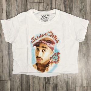 Tops - New Tupac Crop top XL Crop